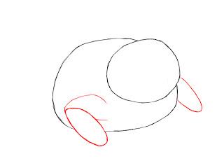 Жабьи лапы на рисунке